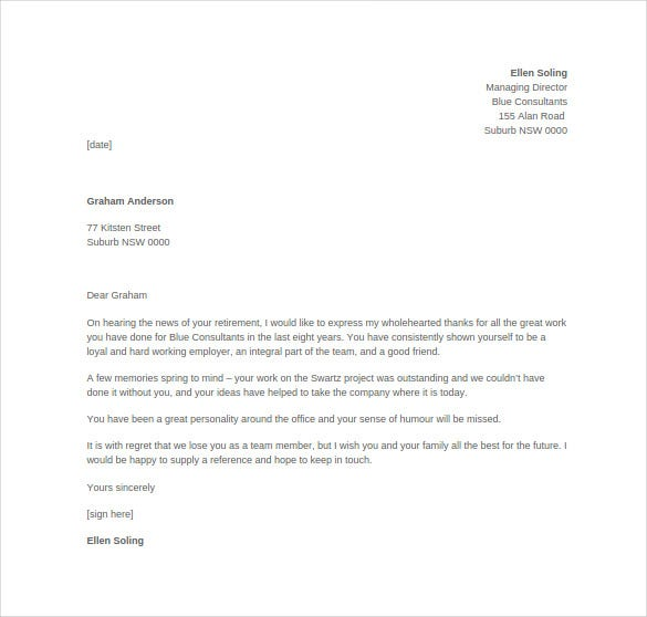 Employee Thank You Letter Template