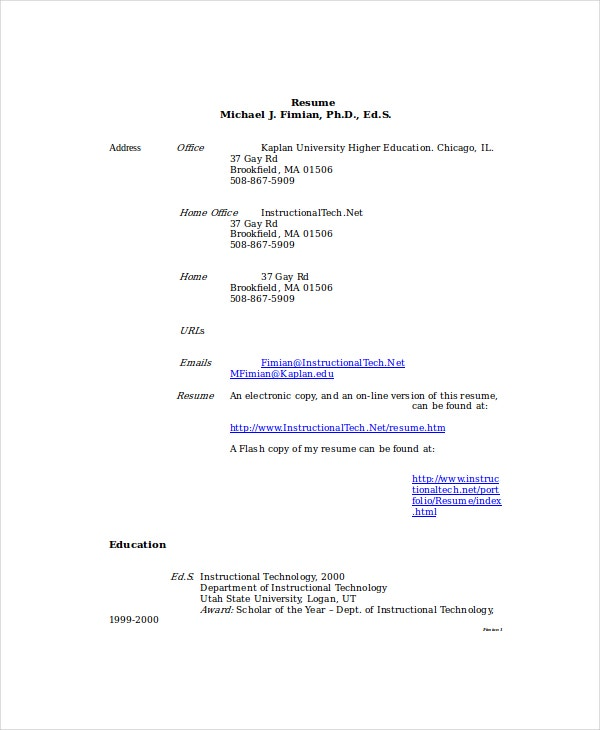 Paraeducator Resume Sample
