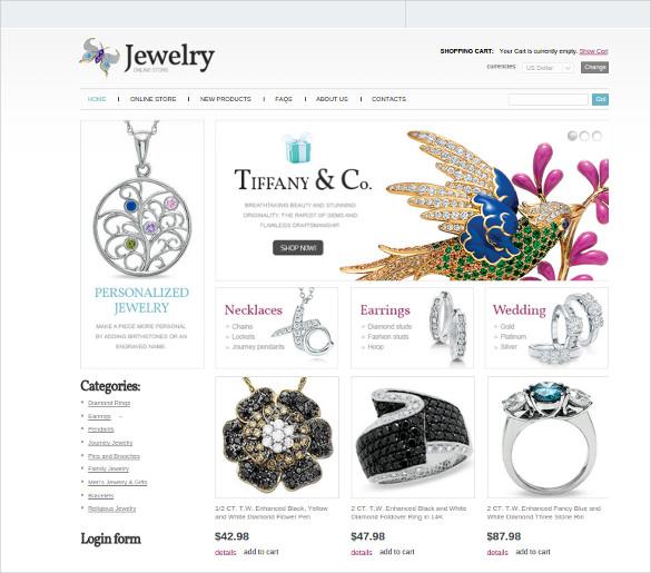jewelry online store joomla template