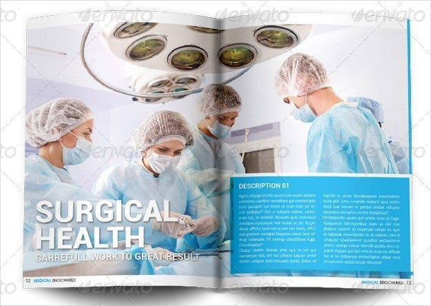 surgical medical brochure template