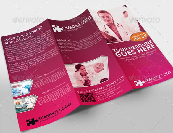 Pink Medical Brochure Template  Medical Brochures Templates