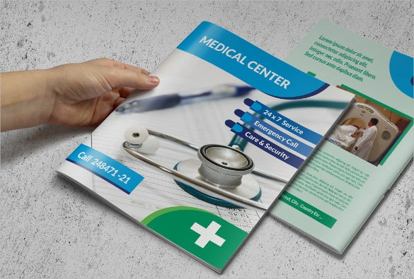 catalog medical brochure template