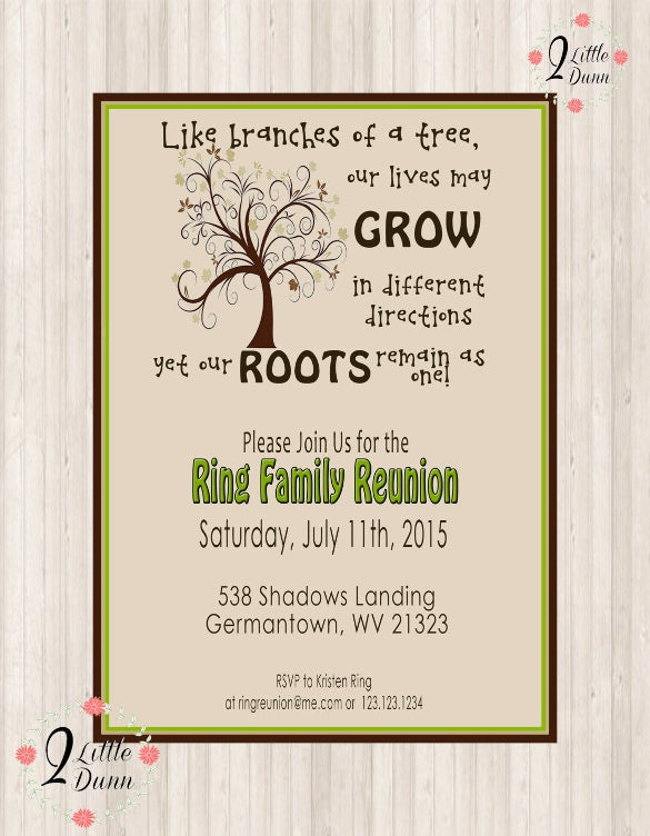 32 Family Reunion Invitation Templates Free PSD Vector EPS – Free Printable Family Reunion Invitations