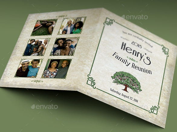 classic retro family reunion invitation template
