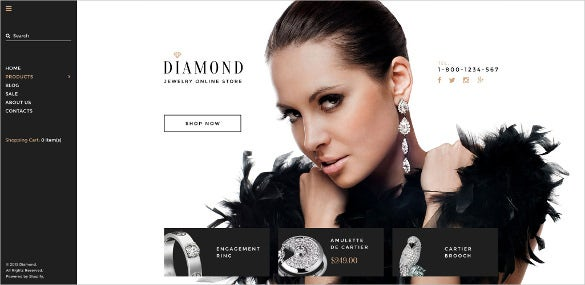 diamond jewelry shopify blog theme