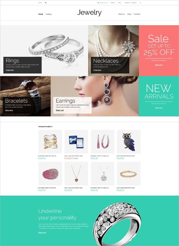 valuables jewelry virtuemart blog template