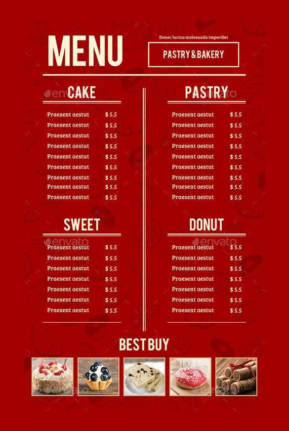 27 bakery menu templates free sample example format download bakery menu vector eps format download thecheapjerseys Images