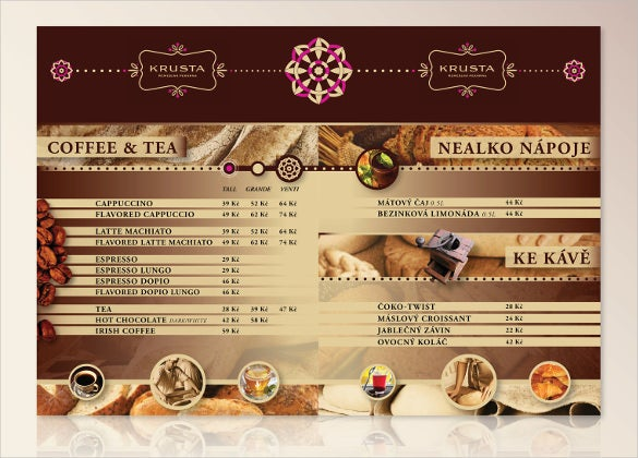 bakery menu template 2
