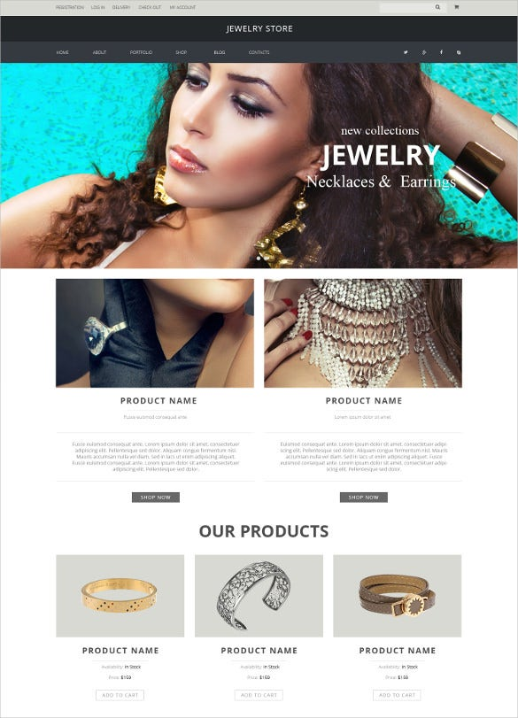 jewelry pieces woocommerce blog theme