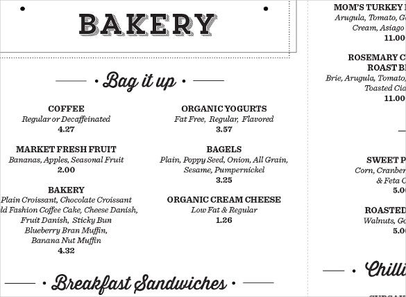 25+ Bakery Menu Templates – Free Sample, Example Format Download