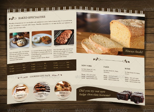 29  bakery menu templates