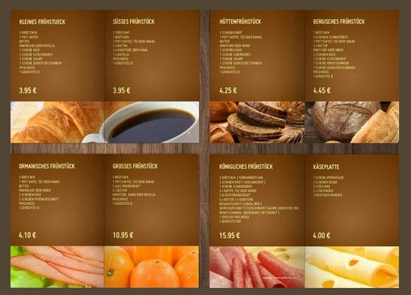 27 Bakery Menu Templates Free Sample Example Format Download – Sample Cafe Menu Template