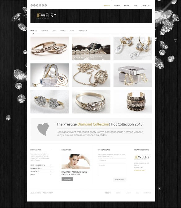responsive jewelry wordpress blog theme