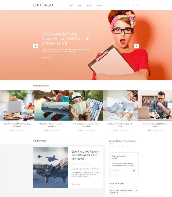 editorso journalist blog wordpress theme
