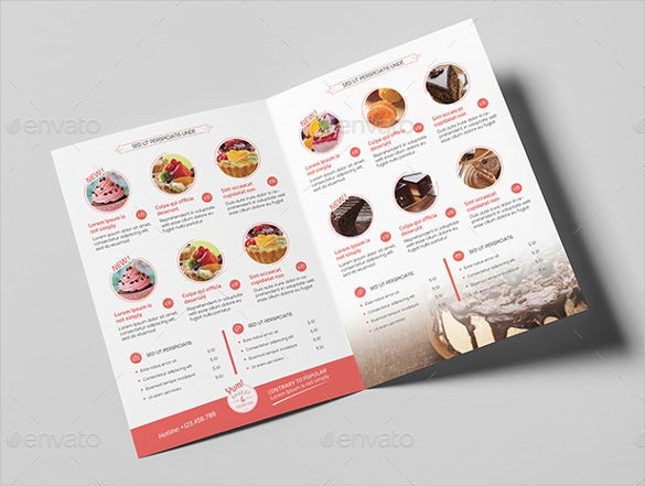 bakery cupcake shop menu template download