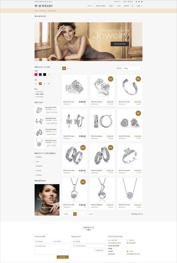 responsive jewelry shopify blog theme