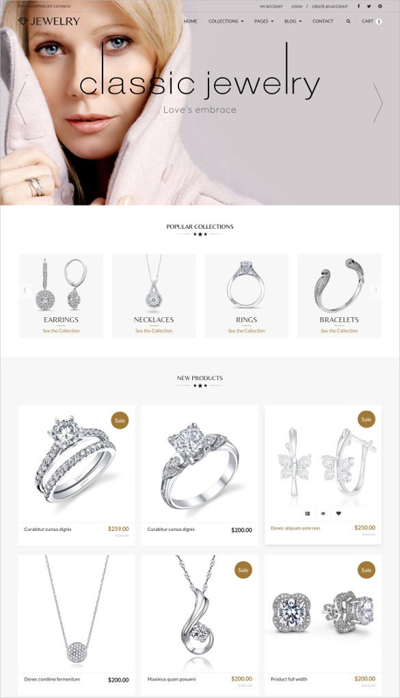 jewelry ecommerce responsive html5 blog template