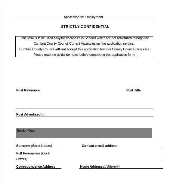 employee job application word document3