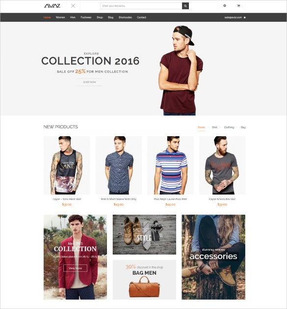 avaz fashion responsive woocommerce wordpress theme