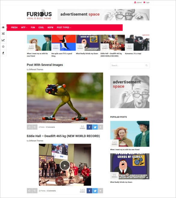 furious viral buzz wordpress theme