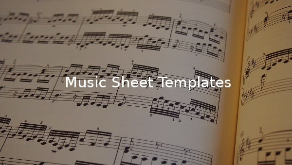 music sheet template