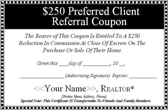 Referral Coupon Templates  BesikEightyCo