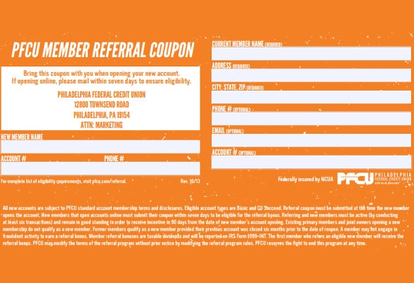 referral coupon templates  u2013 17  free psd  ai  vector  pdf format download