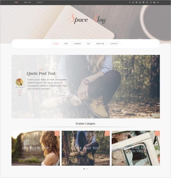 space multiple layout wordpress blog theme