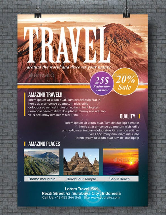 adventure travel flyer template