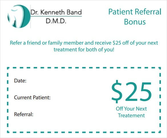 patient refferal coupon template download