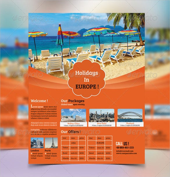 Travel Flyer Template 42 Free Psd Ai Vector Eps Format Download