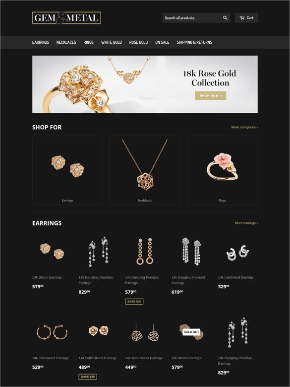 stone jewelry blog template
