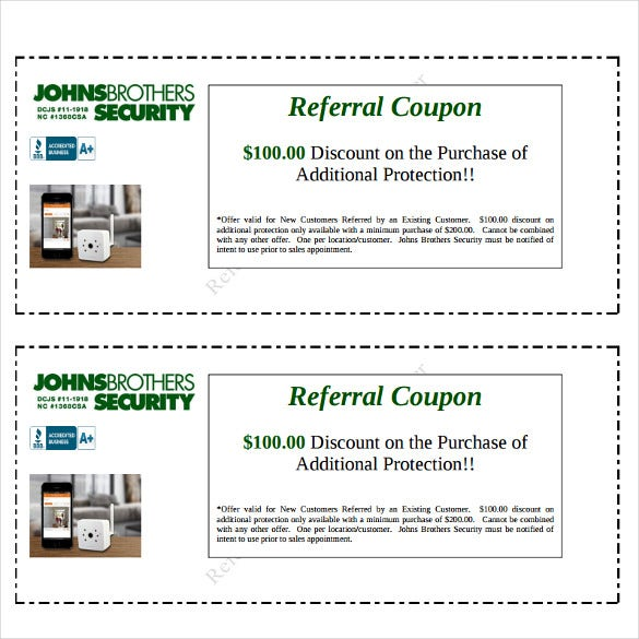 charmant Referral Coupon Template Free Download