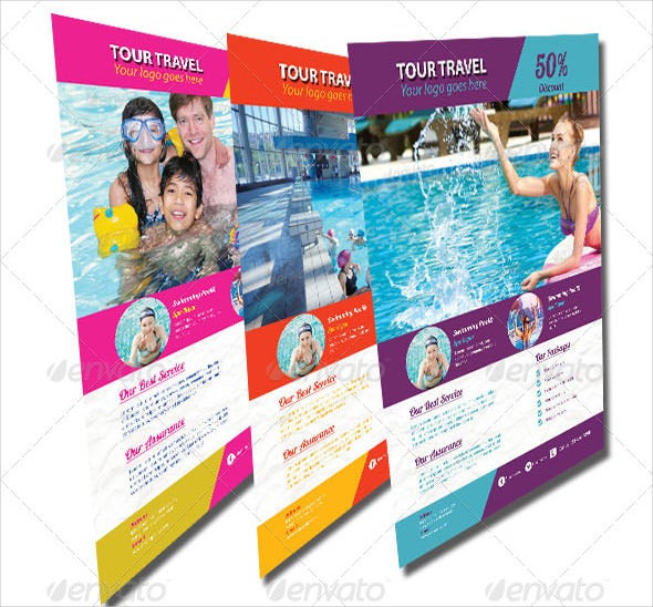 fun travel flyer template