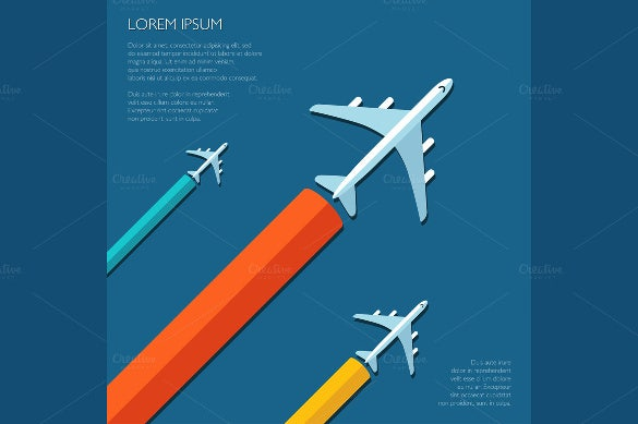 business travel flyer template