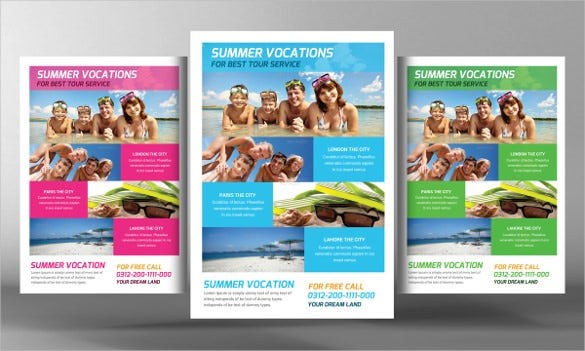 ad travel flyer template