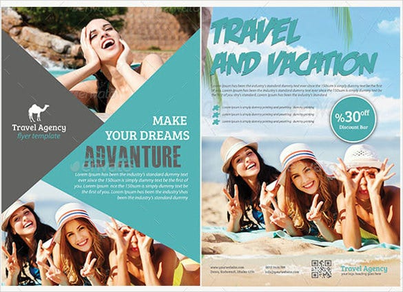 sea travel flyer template