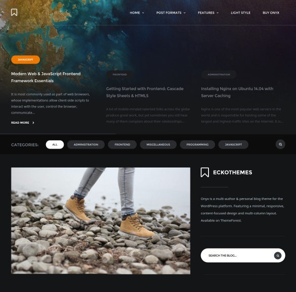 onyx responsive wordpress blog theme