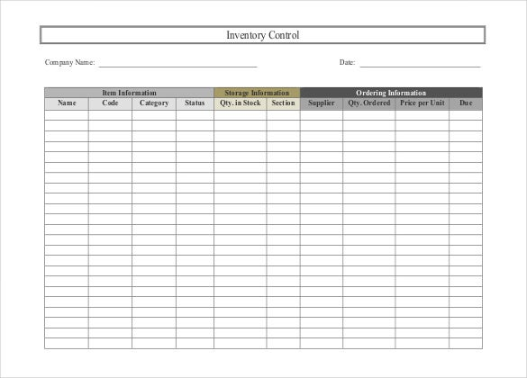 Inventory Spreadsheet Template - 45+ Free Word, Excel Documents