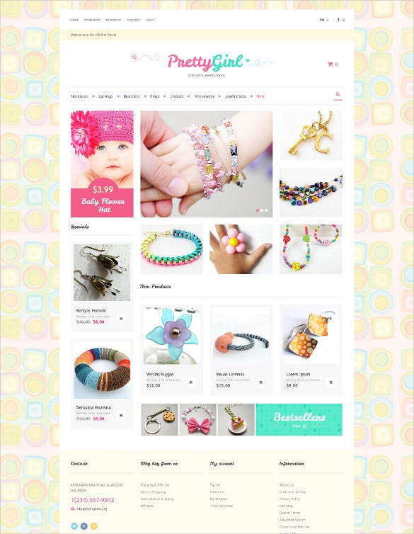 kids jewelry magento html5 theme