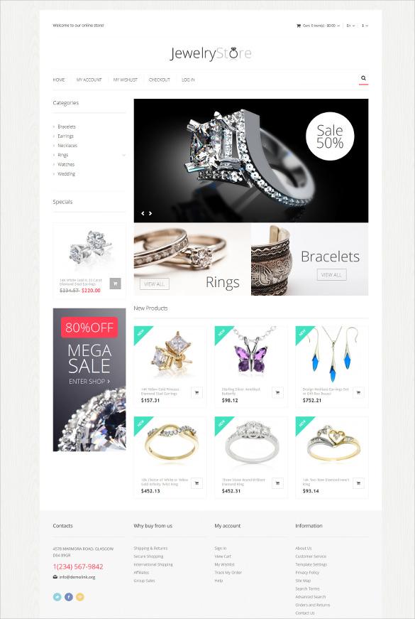 fine jewelry magento html5 theme