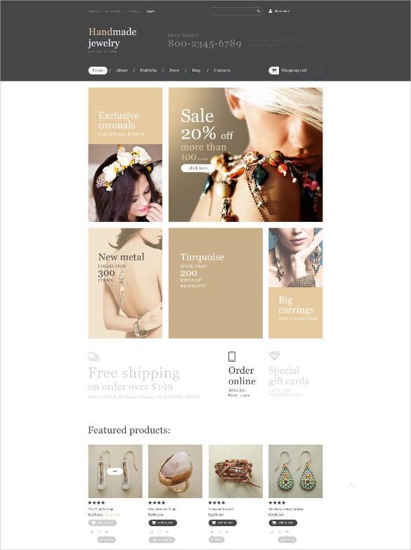 handmade jewelry store woocommerce html5 theme