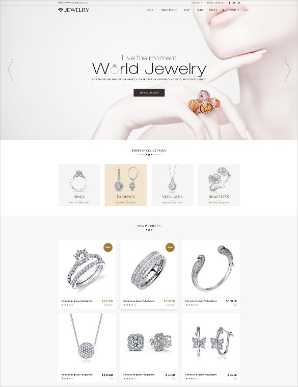 jewelry responsive shopify html5 theme