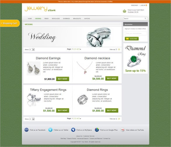 jewelry store magento html5 theme