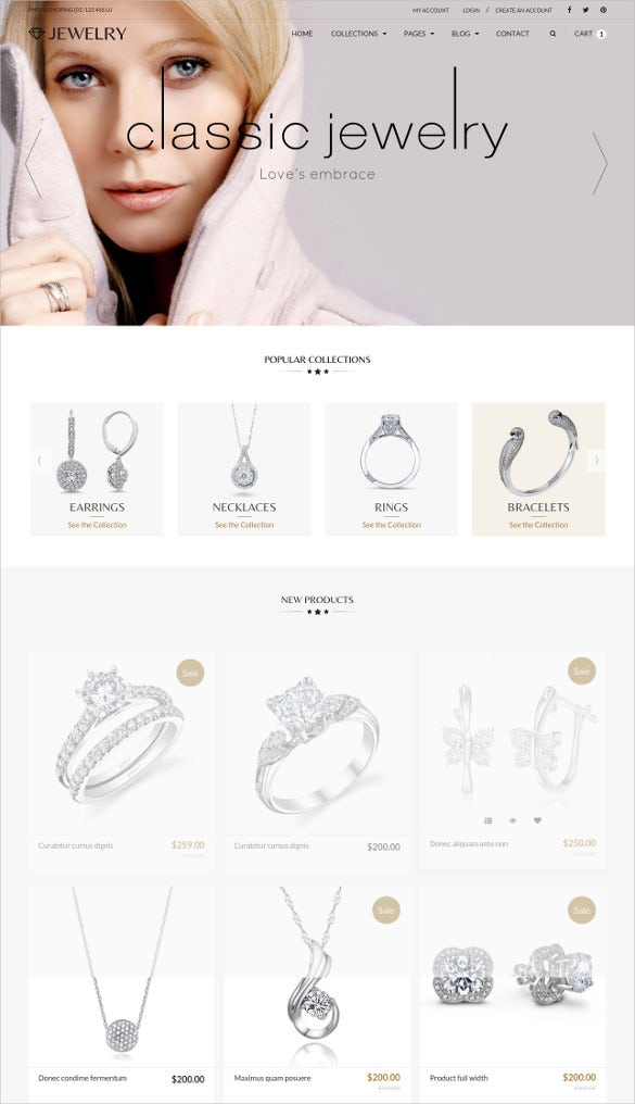 jewelry ecommerce responsive html5 template