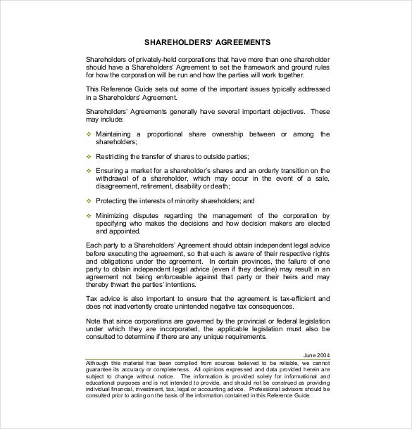 13 shareholder agreement templates free sample example for Transfer pricing agreement template