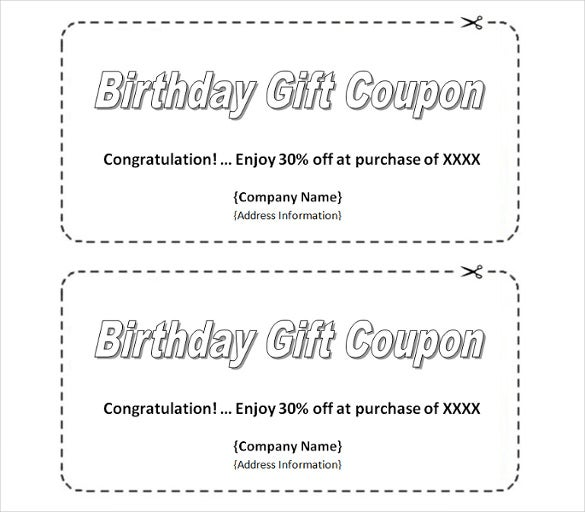 Homemade Birthday Coupon Template Download  Blank Coupons Templates