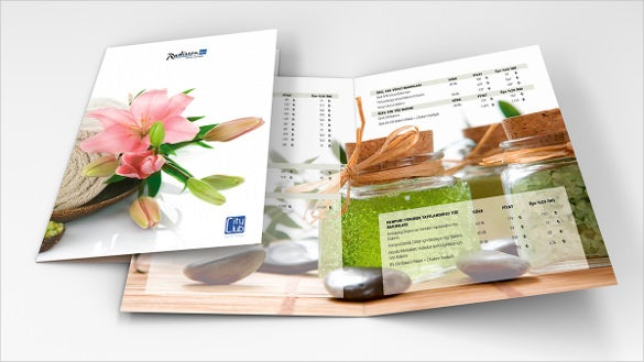 Spa Menu Templates  Free Sample Example Format Download