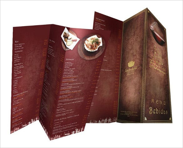 garden spa resort menu template download