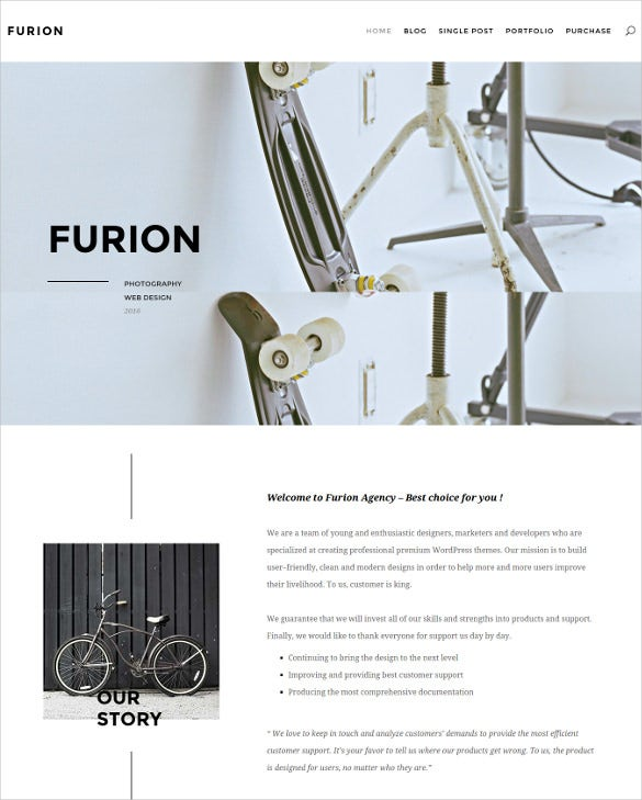 furion creative blog portfolio wordpress theme1